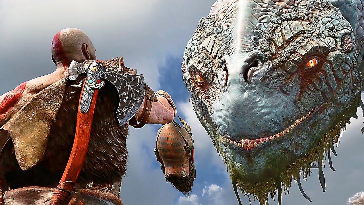 God of war review get ready to spend 50 hours with kratos - God of war jormungandr ...