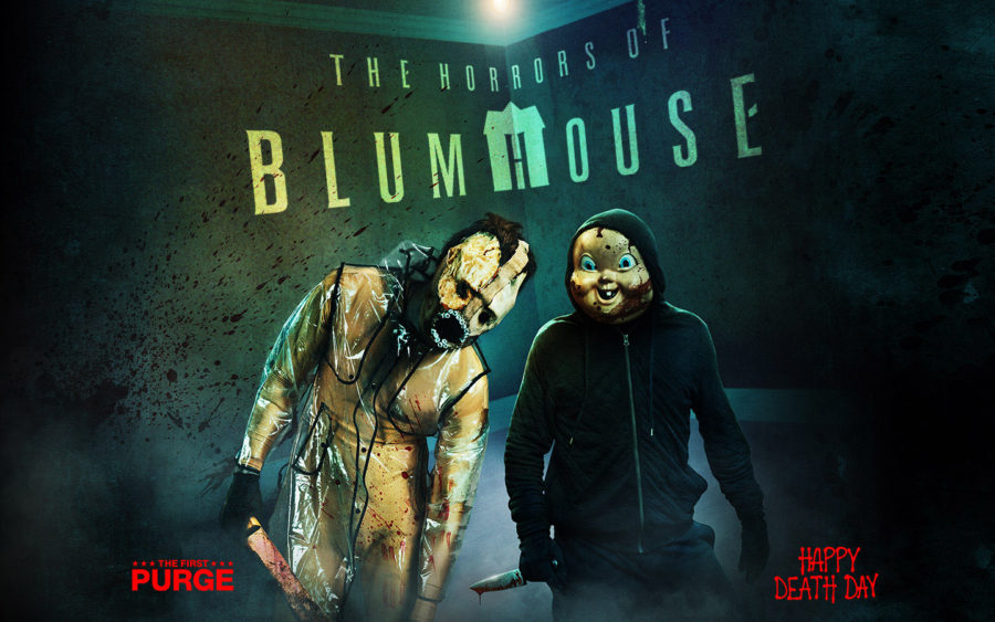 halloween horror nights the horrors of blumhouse featuring the first purge happy death day